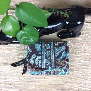 🍁 Vera Bradley Java Blue TriFold Wallet